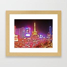 Las Vegas Strip HDR Framed Art Print