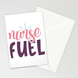 Nurse Fuel Cool Pretty Coffee Lover Quote Stationery Cards
