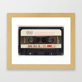 Vintage Music Cassete Framed Art Print