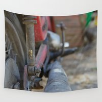 motorcycle Wall Tapestries featuring Dirty Motorcycle by Hunter J.