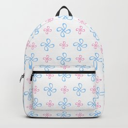 geometric flower 18 blue and pink Backpack
