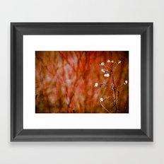 Red Hot Winter Framed Art Print