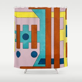 Raygun Capacitor - Abstract Composition Shower Curtain