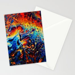 Abstract Panting Stationery Cards