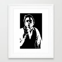 johnny cash Framed Art Prints featuring Johnny Cash by ACHE