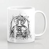 vader Mugs featuring Vader by Julia Bruggeman
