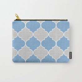 Moroccan Trellis in Gray Carry-All Pouch