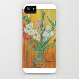 Gladioli in Color iPhone Case