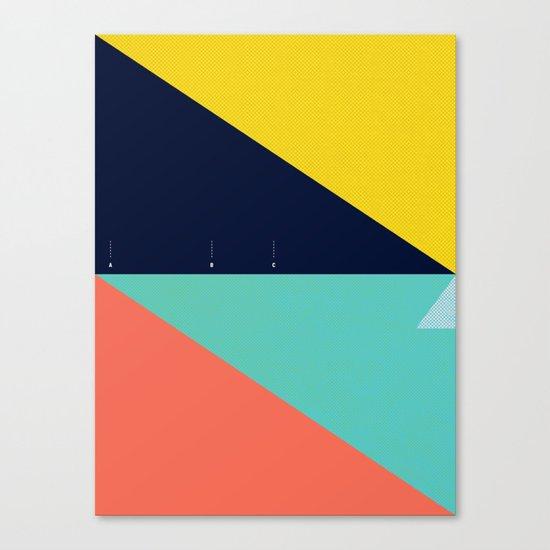 Secret Surf Map (High Tide) — Matthew Korbel-Bowers Canvas Print