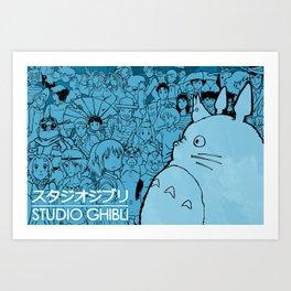 Celebrating Ghibli (fan art) Art Print
