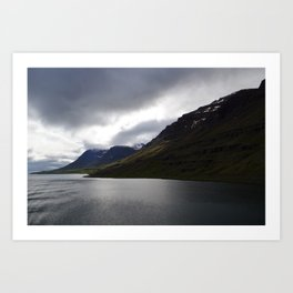 approaching iceland. Art Print