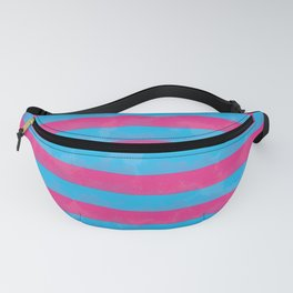 Pink and blue stripes Fanny Pack