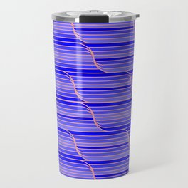 Geo Stripes - Cobalt Blue Travel Mug