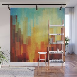 Urban sunset Wall Mural