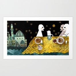 """Baku"" illustration Tarmasz Art Print"