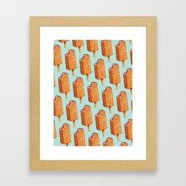 Popsicle Pattern- Strawberry Shortcake Framed Art Print