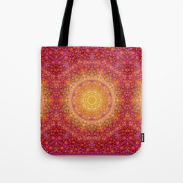Love Will Find A Way -- Kaleidescope Mandala in the colors of Love Tote Bag
