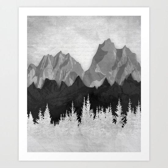 Layered Landscapes Art Print
