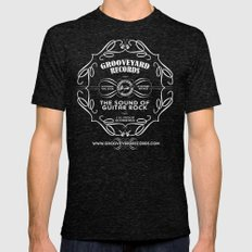Grooveyard Records Classic Logo Tri-Black X-LARGE Mens Fitted Tee