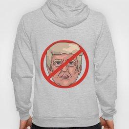 Donald Trump No Road Sign Illustration Hoody