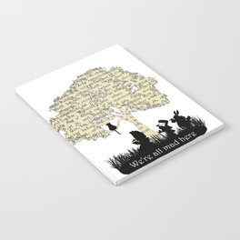 We're All Mad Here II - Alice In Wonderland Silhouette Art Notebook