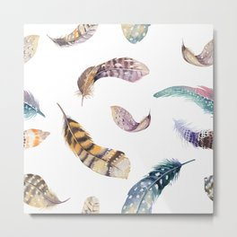 Feather pattern 2 Metal Print