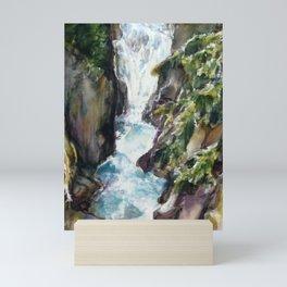 Avalanche creek, Glacier National Part Mini Art Print