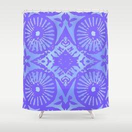 bowie: blue blue electric blue Shower Curtain