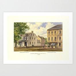 New York 1808, Broadway & Courtland St., Alderman Bogert's Bakery and Manasseh Salter's Store Art Print