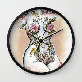Peri shroom torso in color Wall Clock