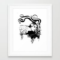 cigarette Framed Art Prints featuring Cigarette by alexflasher