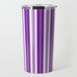 Purple and White Stripes Travel Mug