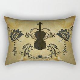 Wonderful violoin with elegant floral elements Rectangular Pillow