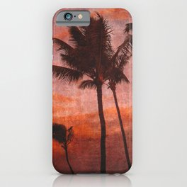 Maui Palms at Sunset iPhone Case