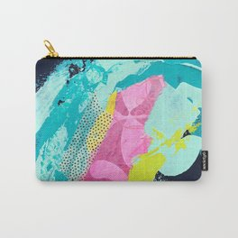 Blue No. 5 II Mixed Media Collage Carry-All Pouch