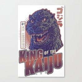 King of the Kaiju! Canvas Print