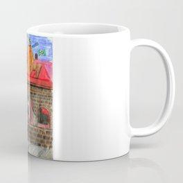 1561 Aerial Battle Over Nuremberg Reimagined from Jakobstor Coffee Mug