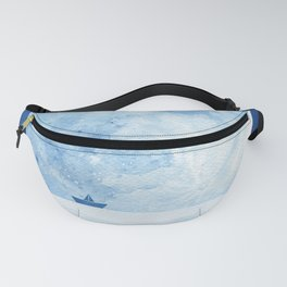 Full moon & paper boat Fanny Pack