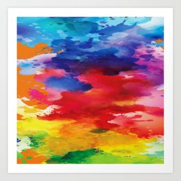 Watercolor Summer Art Print