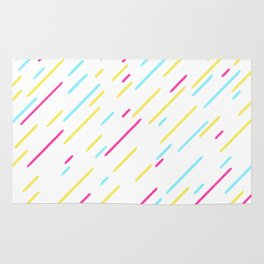 Simple Colorful Abstract Lines Pattern Rug