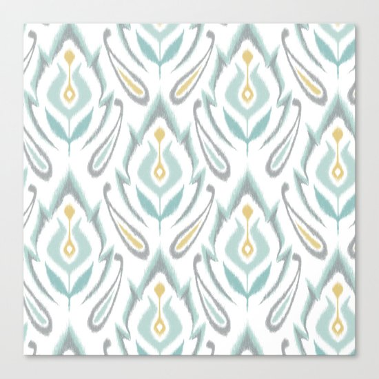 Soft Ikat Canvas Print