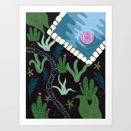 Path through the cactus Art Print