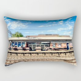 Miniature People at the Station Rectangular Pillow