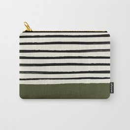 Olive Green x Stripes Carry-All Pouch