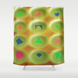Hazy Puzzle Shower Curtain