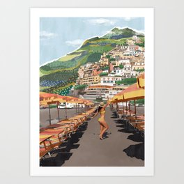 Dancing in Positano Art Print