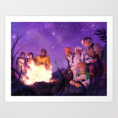 Under the Stars They Saved Art Print