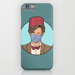 I Wear A Mask Now iPhone Case