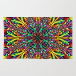 Crazy colors 3D mandala Rug