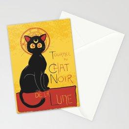 Chat Noir de la Lune Stationery Cards